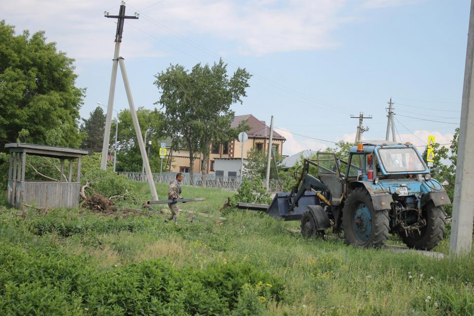 В Нагорном приступили к началу строительства нового сквера со спортивной площадкой